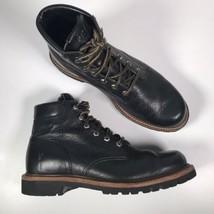 FRYE Men's Sz 9.5 Dakota Plain Toe 87526 Black Leather Ankle Boots - $2.721,17 MXN