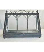 Provence la Siroque Tabletop Greenhouse/Terrarium/Planter – Metal And G... - $47.50