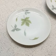 "Mikasa Elite Windfall Pattern, Set Of 3 Salad Plates 7 1/2"" Wide, Green Leaves - $5.94"