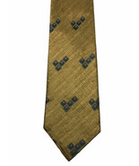 XMI Platinum Amazing Beautiful Gold Tweed Style Silk Necktie Tie - $19.79