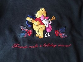 Winnie The Pooh Size Medium Sweatshirt Friends Make The Holiday - $16.14