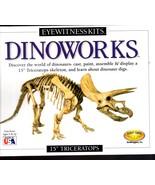 "Eyewitness Kits Dinoworks 15"" Triceratops Skeleton Cast Kit )New Sealed)  - $15.00"