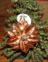 Magnolia Garden Glittered Poinsettia Hanging Glass Ornament (Dept. 56, 6005158) - $15.00