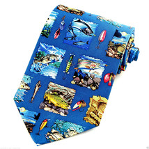 Freshwater Fly Fishing Men's Silk Necktie Fish Art Fisherman Gift Neck Tie - $19.75