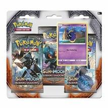 Pokemon Sun & Moon Burning Shadows 3-Pack Booster Blister Pack Cosmog Promo - $15.95