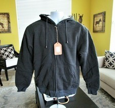 Gioberti Men's Sherpa-Lined Fleece Hoodie Jacket Sz M Long Sleeve Heavy ... - $41.58