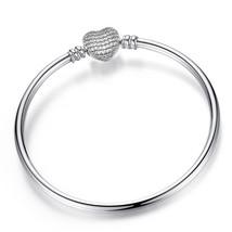 Fi Original Pandora Pulseira Charms bracelet Black Hear Enamel Gold Clea... - $15.48