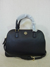 NWT Tory Burch Black Pebbled Leather Robinson Mini Double Zip Satchel $475 - $413.82
