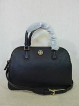 NWT Tory Burch Black Pebbled Leather Robinson Mini Double Zip Satchel $475 - $413.82