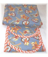 Curious George Western Cowboy Flannel Fabric Receiving Blanket And Burp ... - $22.00