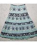 Women's Ann Taylor LOFT Maxi Skirt ~ Sz 6 ~ Blue & White ~ Long ~ Lined - $24.74
