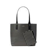 NWT KATE SPADE NEW YORK Arch Lauren Stripe Reversible Tote Black WKRU5966 - $100.98
