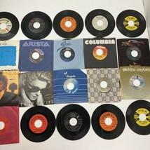 Lot of 20 Record 45 RPM Vinyl Genesis Olivia Rod Stewart Eddie Murphy Ra... - $19.79