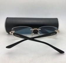 BVLGARI Eyeglasses 1086-T-K 394 55-17 Silver Gold Plated Black Rimless Titanium