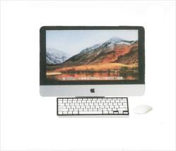DOLLHOUSE MINIATURES 3PC SILVER COMPUTER SET #G7521 - $7.99