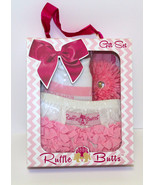 Boxed Gift Set--Pink and White 3-Piece Set-Adorable-Size:3-6 Months - $19.99