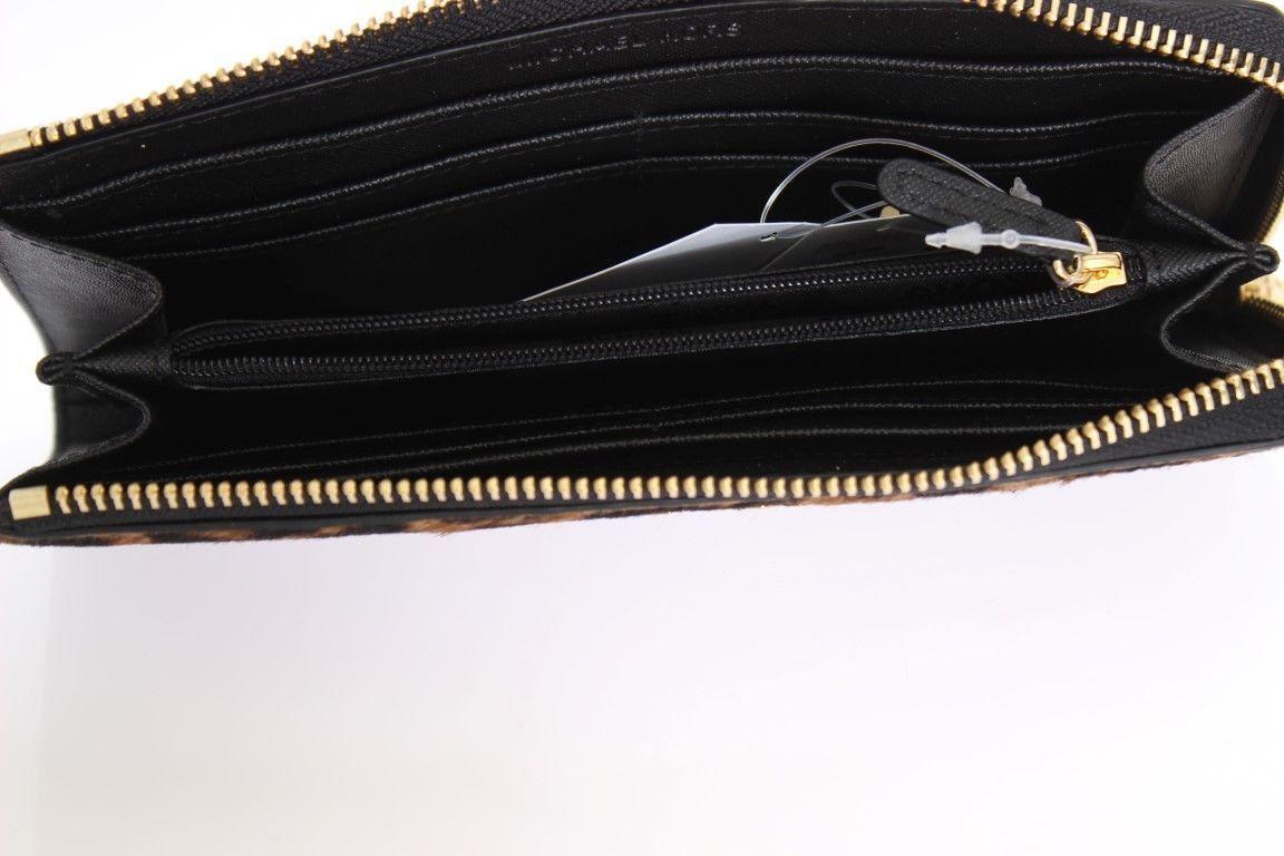 9cf0ba1bac764a ... Michael Kors MK Cheetah BEDFORD Haircalf Wallet Purse Zip Around