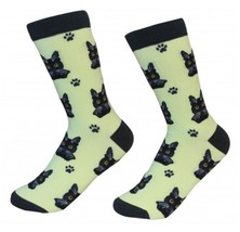 Black Tabby Cat Socks Unisex Dog Cotton/Poly One size fits most - $11.99