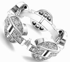 Authentic! CARTIER Himalia 18k White Gold Diamond Band Ring Size 56 US 7.5 - $7,080.00