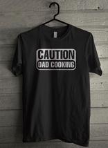 Caution Dad Cooking Men's T-Shirt - Custom (163) - $19.12+