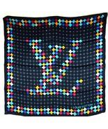 Auth Louis Vuitton LV Floral Logo Design Pattern 100% Silk Scarf 28/71 c... - $296.01