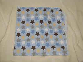 Circo Blue Brown Tan White Gray Star Cotton Flannel Receiving Blanket Baby Boy - $29.69