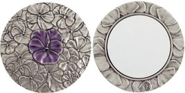 Danforth - Pansy Pewter Purse Mirror Purple - 3 Inch Diameter - Handcraf... - $53.15
