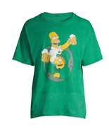 Simpsons Shirt St Patrick's Paddy's Day Homer Barney Get Lucky Beer Mens... - $12.00