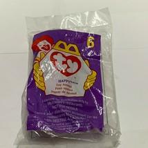 Rare Ty Teenie Beanie Baby Babies 1998 Happy The Hippo #6 McDonald's hap... - $5.93