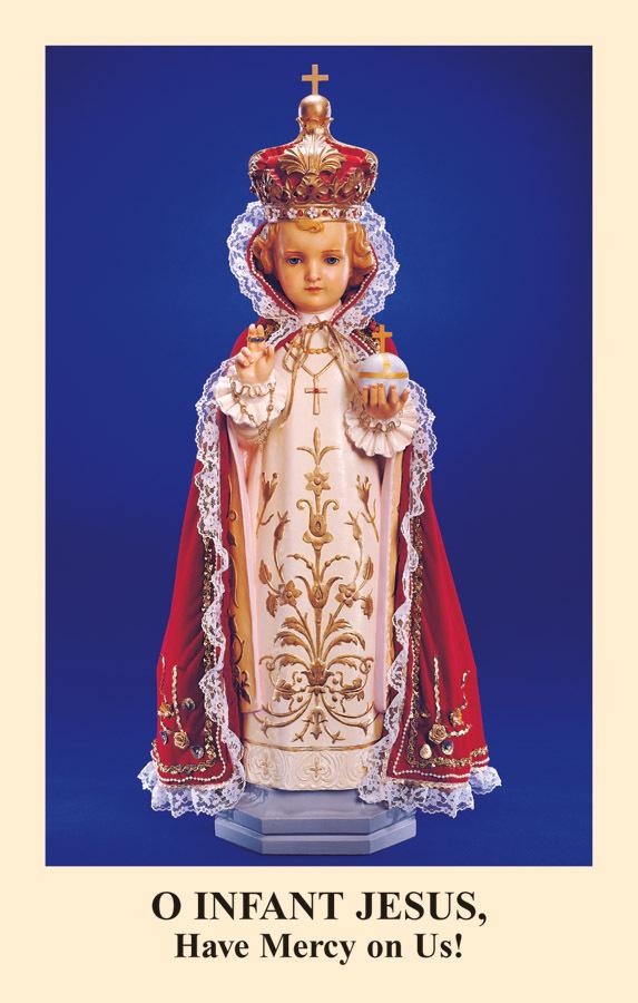 Novena to the infant jesus of prague prayercard