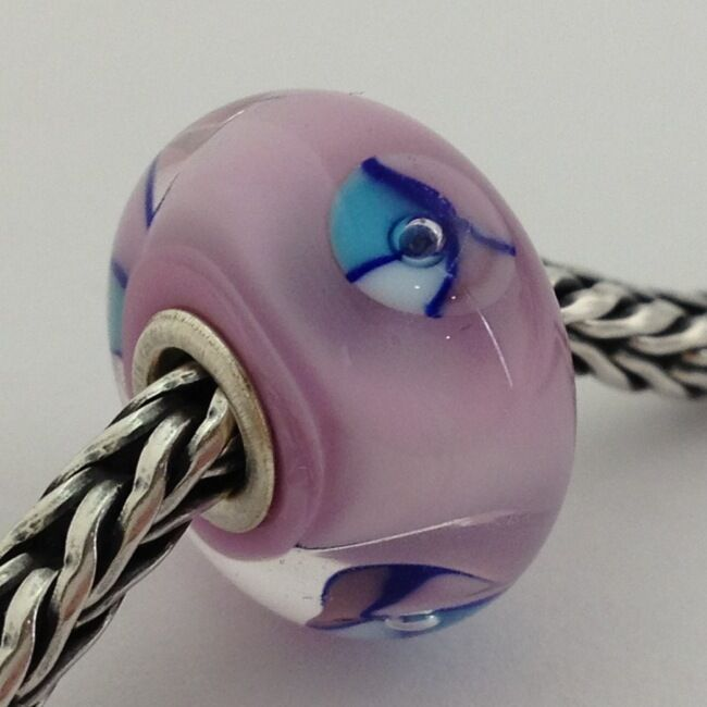 Primary image for Authentic Trollbeads Murano Glass Pink Bead Charm, 61197 New