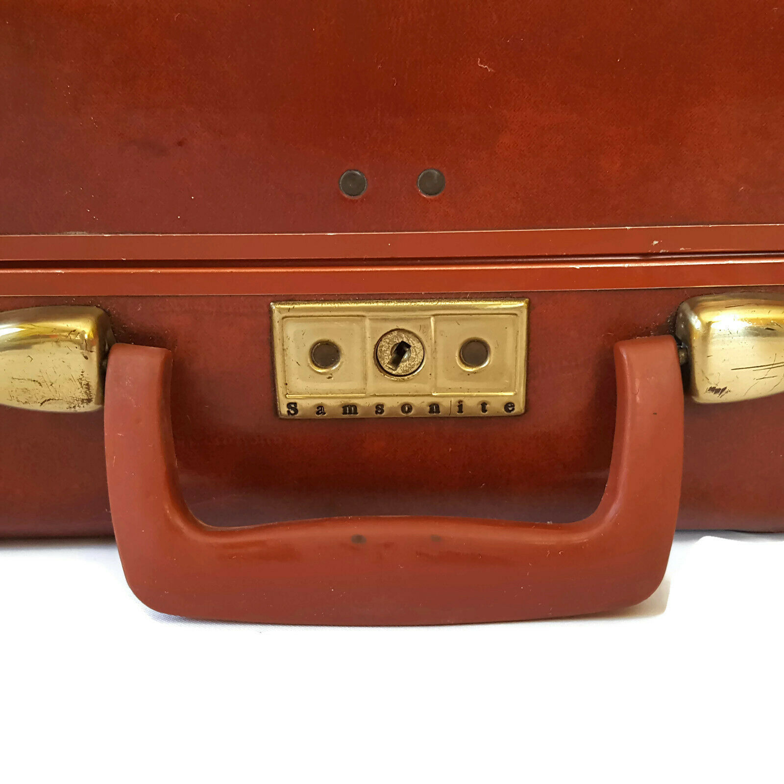 Vintage Samsonite Brown Suitcase 1950s Luggage Burlesque Case Valise