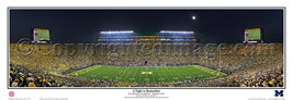 2011 NCAA Michigan Stadium a Night to Remember Panoramic Poster 5028 - $49.95+