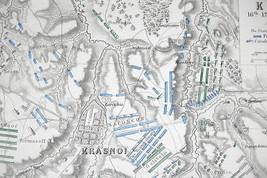 1848 Fine Quality Map - RUSSIA Krasnoy & Environs + Napoleon Battle of 1812 image 2