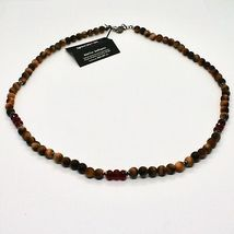 Silver Necklace 925 with Tiger's Eye and Agate Made in Italy by Maschia image 3