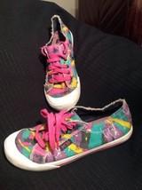K-9 BY ROCKET DOG JAZZ WOMEN'S 9M ARTWORK PINK GREEN YELLOW SNEAKERS FRA... - $26.72