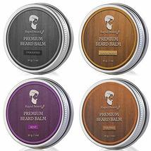 Beard Balm Conditioner 4 Pack - Natural Variety Leave-in Conditioner Wax Butter  image 2