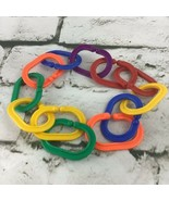 Discovery Toys Chain Link Baby Sensory Colorful Developmental Lot Of 12 ... - $11.88