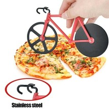 Pizza Cutter Design Stainless Steel Pizza Knife Two-wheel Bicycle Shape ... - £14.79 GBP