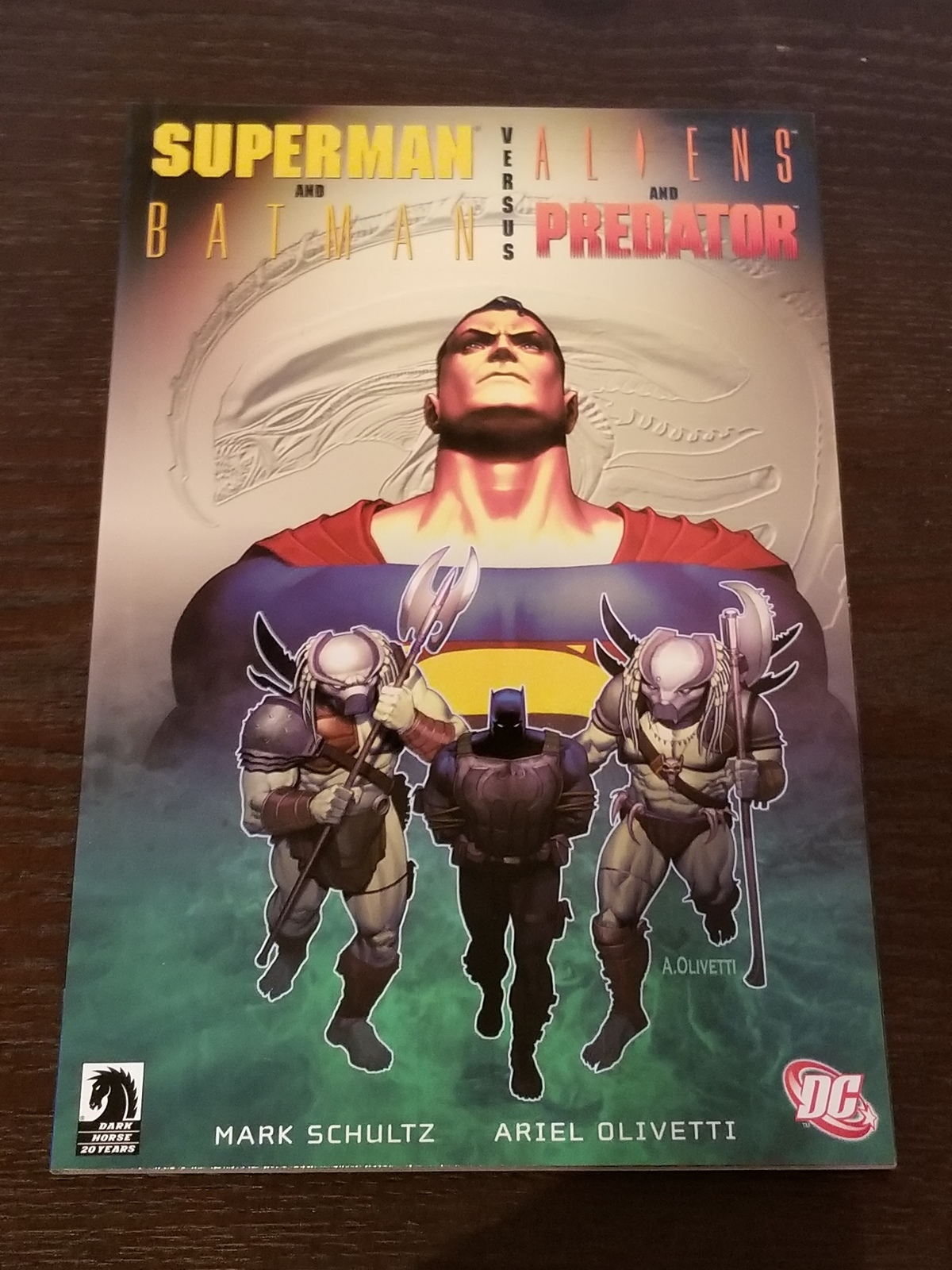Superman and Batman versus Aliens and Predator Softcover Graphic Novel