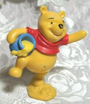 "WINNIE THE POOH BEAR 3"" Cake Topper Figure PVC Plastic Toy Disney Honey Pot image 2"