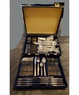 BESTECKE SOLINGEN W. GERMANY 18/10 ~ 23/24K ~ GOLD PLATED FLATWARE  70 PC - $600.00