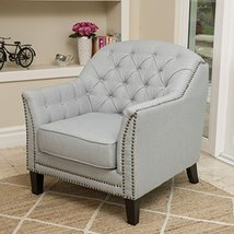 Modern Transitional Button Tufted Upholstered Accent Club Chairs with Na... - $313.95