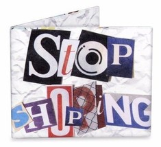 Dynomighty Mighty Wallet Tyvek Stop Shopping White Eco-Friendly Recyclable image 1