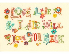 Love Life Mini Embroidery Kit-7 Inch X 5 Inch 0... - $9.00