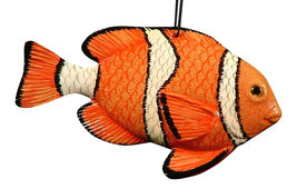 Tropical Reef Nemo Hanging 3D Clown Fish 6 Inches 6ORN38 Resin - $19.98