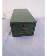 Vtg Green Cole-Steel Metal 3x5 Index Card File Recipe Box Drawer Industr... - $24.78