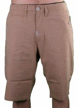 LRG Support Network True Straight Cotton Brown Shorts 30 NWT image 1