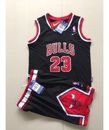 Youth Chicago Bulls  #23 Michael Jordan basketball jersey suit Black.jpg - $45.99