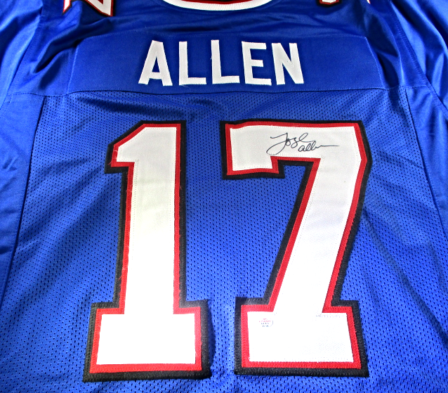 another chance 09c95 abcfe JOSH ALLEN - BUFFALO BILLS QB - HAND SIGNED BUFFALO BILLS CUSTOM JERSEY -  W/ COA